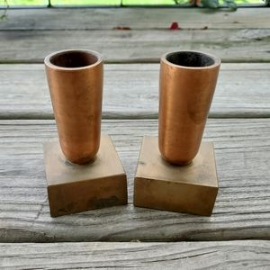 Set of Two Mid Century Style Candle Stick Holders
